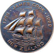 Token - James Cook Bi-Centenary – obverse