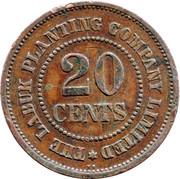 20 Cents - Labuk Planting Company Limited – reverse