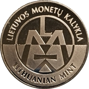 Lithuanian Mint Token - World Money Fair 2017 – reverse