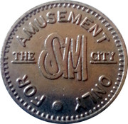 The SM City Amusement Token – obverse
