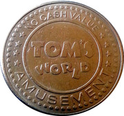 Amusement Token - Tom's World – reverse