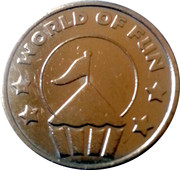World of Fun Amusement Token – obverse