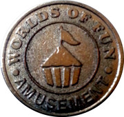 Worlds of Fun Amusement Token – obverse