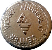 Vidart Amusement Center Token – obverse