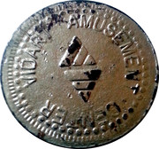 Vidart Amusement Center Token – reverse