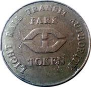 Fare Token - Light Rail Transit Authority – obverse