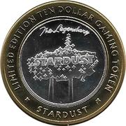 10 Dollar Gaming Token - Stardust Casino (Las Vegas) – reverse