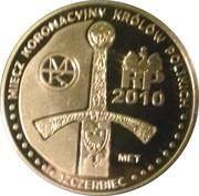 10 miedziaków królewskich - Mieszko I wg. Jana Matejki – reverse