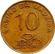 10 Escudos - Casino da Madeira – reverse