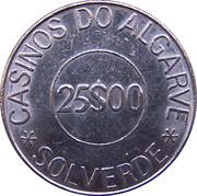 25 Escudos - Casinos do Algarve – reverse