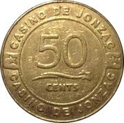 50 Cents - Casino Jonzac – obverse