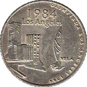 Olympic Token (1984 Los Angeles) – obverse