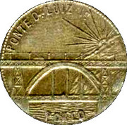 ½ Centavo - Toll Token to cross the D. Luis I bridge in Oporto – obverse