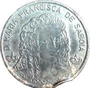 D.PEDRO  1648 - 1706    D.MARIA FRANCISCA DE SABOIA – obverse