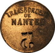 5 Centimes - Transporter bridge in Nantes – reverse