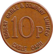 10 Pence - Robert Cable & Company (Scotland) – obverse