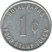 1 Cent - Royal Farms (Type 2) – obverse