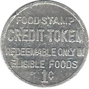1 Cent - Food Stamp Credit Token (Shopwell) – reverse
