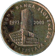 NARODNA BANKA SLOVENSKA 1993 - 2003 – reverse