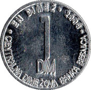 1 Dim (Kostanj) – obverse