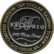 10 Dollar Gaming Token - Bellagio (Las Vegas, Nevada) – obverse