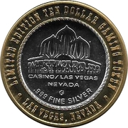 10 Dollar Gaming Token - Westward Ho (Las Vegas) – obverse