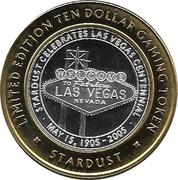10 Dollar Gaming Token - Stardust (Las Vegas) – reverse