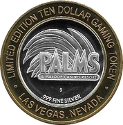 10 Dollar Gaming Token - Palms (Las Vegas) – obverse