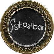 10 Dollar Gaming Token - Palms (Las Vegas) – reverse