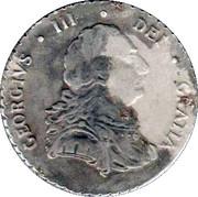 Van Riebeeck Coffee replica - Silver Shilling Georgius III Undate English – obverse