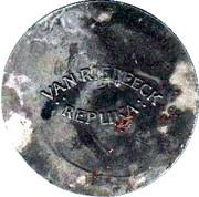 Van Riebeeck Coffee replica - Silver Shilling Georgius III Undate English – reverse