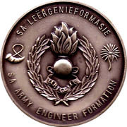 Medallion - S A Formation Army Engineer 50th Anniversary – reverse