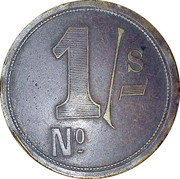 1 Shilling - RH Hovenden & Sons London – reverse
