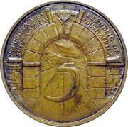 Token - 5 Years Commemoration of the Republic of South Africa – reverse