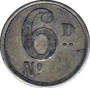 6 Pence - RH Hovenden & Sons (London) – reverse