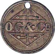 1 Shilling - Osborne, Garret & Co (O. G. & Co) – obverse