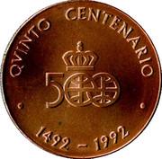 Colombus Quinto Centenario medal – obverse