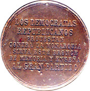 Spanish Ephemeris Medal (Los Democratas Republicanos) – reverse