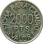 2000 Pesetas - Recreativos Francos, S.A. - Consumption Token – reverse