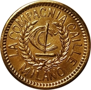 10 La Compagnia Calle Milano Token – obverse