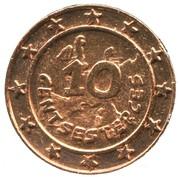 10 Centsesterces -  Nutella (Falbala) – reverse