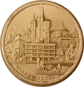 Token - 25 years of city of Waldkraiburg – reverse