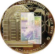 Token - Commemoration of Banknotes by the Swiss National Bank – obverse