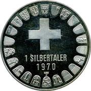 1 Silbertaler - Schaffhausen – reverse
