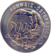 Token - UEFA Euro 2008 (Switzerland) – reverse