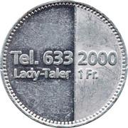 1 Franc / Lady-Taler - Mini Taxi – reverse