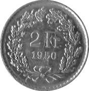 2 Francs (AG Sigg) – reverse