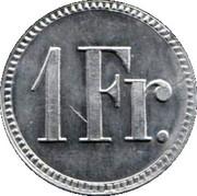 1 Franc - Marino Masetti (Zürich) – reverse