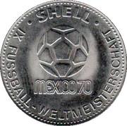 Shell Token - Fußball-WM 1970 Mexico (Horst Wolter) – reverse