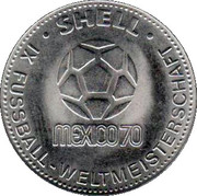 Shell Token - Fußball-WM 1970 Mexico (Franz Beckenbauer) – reverse